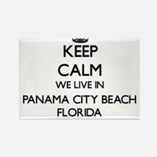 Keep calm we live in Panama City Beach Flo Magnets