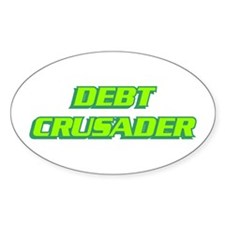 Debt Crusader Oval Decal