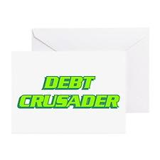 Debt Crusader Greeting Cards (Pk of 10)