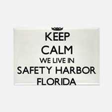 Keep calm we live in Safety Harbor Florida Magnets