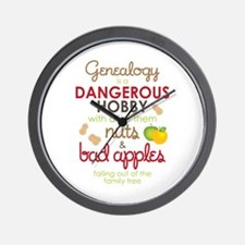 Genealogy Nuts Wall Clock