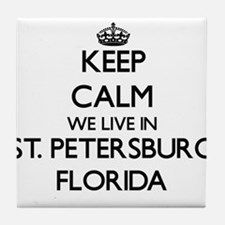 Keep calm we live in St. Petersburg F Tile Coaster