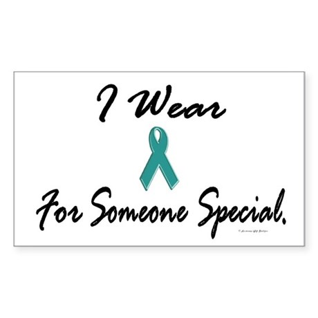 I Wear Teal For Someone Special 1 Sticker (Rectang
