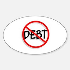 No Debt Oval Decal