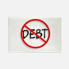 No Debt Rectangle Magnet