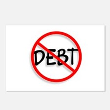 No Debt Postcards (Package of 8)