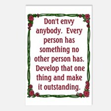 DON'T ENVY Postcards (Package of 8)