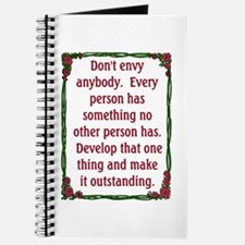 DON'T ENVY Journal