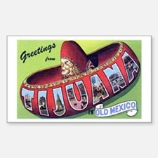 Tijuana Mexico Greetings Rectangle Decal