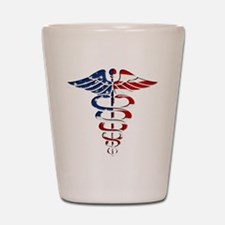 American Caduceus Shot Glass