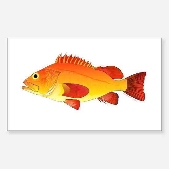 Yelloweye Rockfish Decal