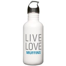 Live Love Muffins Water Bottle
