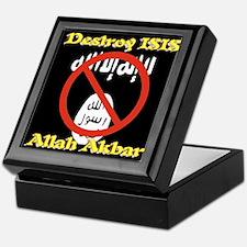 Destroy ISIS No Symbol Allah Akbar Keepsake Box