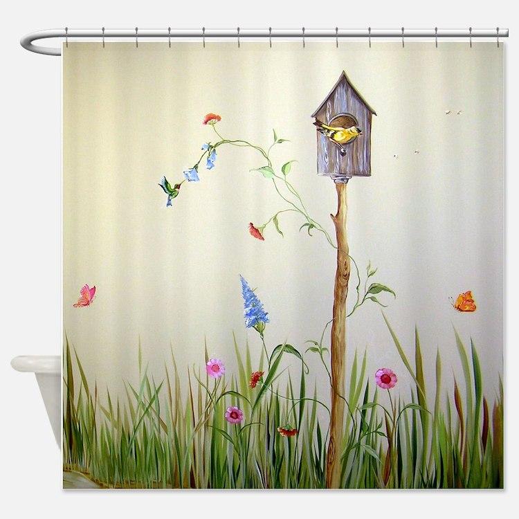 Birdhouse Shower Curtain