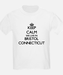 Keep calm we live in Bristol Connecticut T-Shirt
