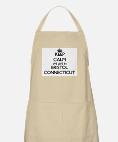 Keep calm we live in Bristol Connecticut Apron