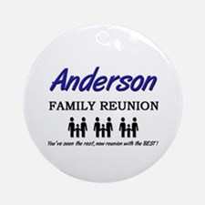 Anderson Family Reunion Ornament (Round)