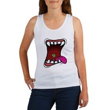 Mouth with Fuzzy Tank Top