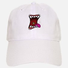 Mouth with Fuzzy Baseball Baseball Cap
