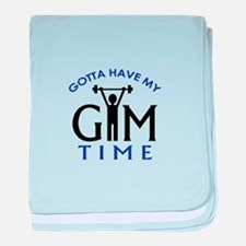 Gotta Have My Gym Time baby blanket