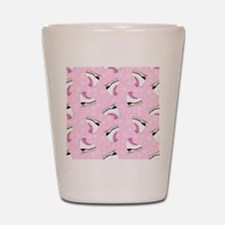 Pink Ice Skating Pattern Shot Glass