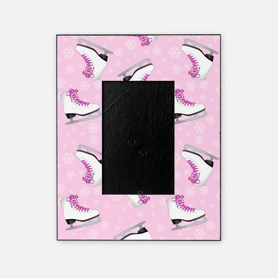 Pink Ice Skating Pattern Picture Frame