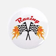 """RACING FLAMING FLAGS 3.5"""" Button"""
