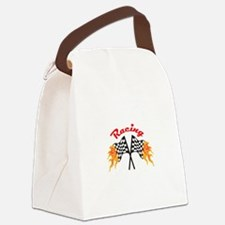 RACING FLAMING FLAGS Canvas Lunch Bag