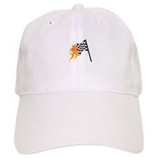 FLAMING RACING FLAG Baseball Baseball Baseball Cap
