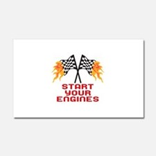 START YOUR ENGINES Car Magnet 20 x 12