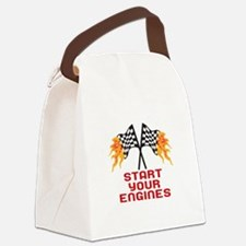 START YOUR ENGINES Canvas Lunch Bag