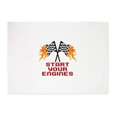 START YOUR ENGINES 5'x7'Area Rug