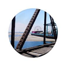 """Beach Ferris Wheel 3.5"""" Button"""