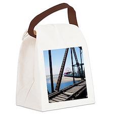 Beach Ferris Wheel Canvas Lunch Bag