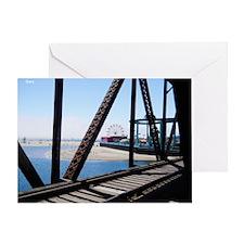 Beach Ferris Wheel Greeting Card