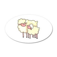 EWE WITH BABY LAMB Wall Decal