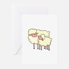 EWE WITH BABY LAMB Greeting Cards