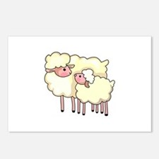 EWE WITH BABY LAMB Postcards (Package of 8)