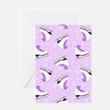 Purple Figure Skating Pattern Greeting Card