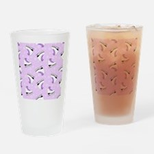 Purple Figure Skating Pattern Drinking Glass