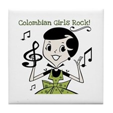 Colombian Girls Rock Tile Coaster