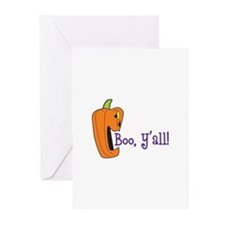 BOO YALL Greeting Cards