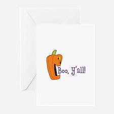 BOO YALL Greeting Cards