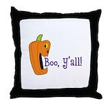Boo y'all Throw Pillows