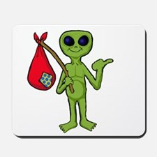 Hitch hiking Alien Mousepad