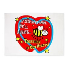 Be Together In Our Hearts 5'x7'Area Rug
