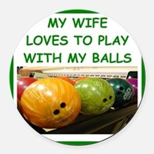 bowling Round Car Magnet