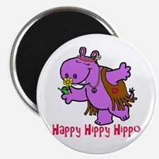 Happy Hippy Hippo Magnets