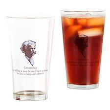 Twain - Censorship Drinking Glass
