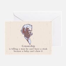 Twain - Censorship Greeting Card